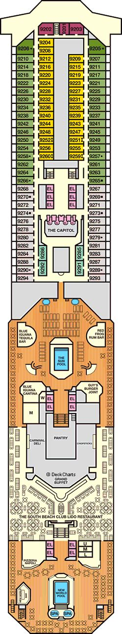 carnival triumph floor plan carnival triumph deck plans ship layout staterooms
