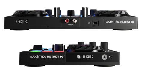console hercules dj instinct dj controllers hercules djcontrol instinct p8 now dex 3