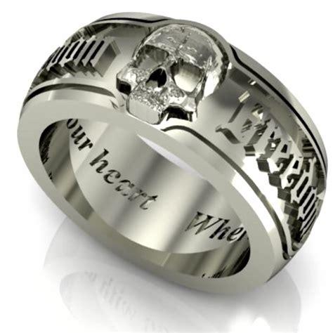 skull wedding rings bespoke silver skull 9 cool skull wedding band fashion nicepricesell