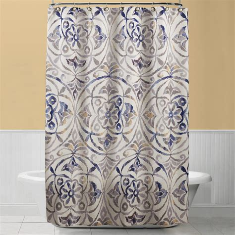 Sears Fabric Shower Curtains by Sylvia Shower Curtain Fabric Blue Home Bed Bath
