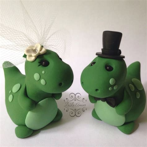 Handmade Cake Toppers Uk - dinosaur wedding cake topper handmade