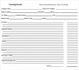 catering template catering invoice sle 10 documents in pdf