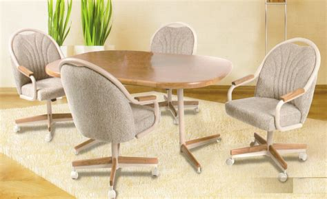 table chairs with casters kitchen table and chairs with casters rapflava