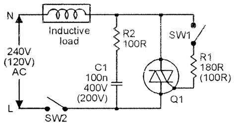 inductive load circuit triac principles and circuits part 1 nuts volts magazine for the electronics hobbyist