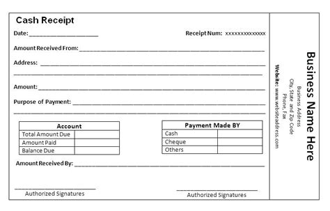 gate receipt template payment received receipt template free printable receipts
