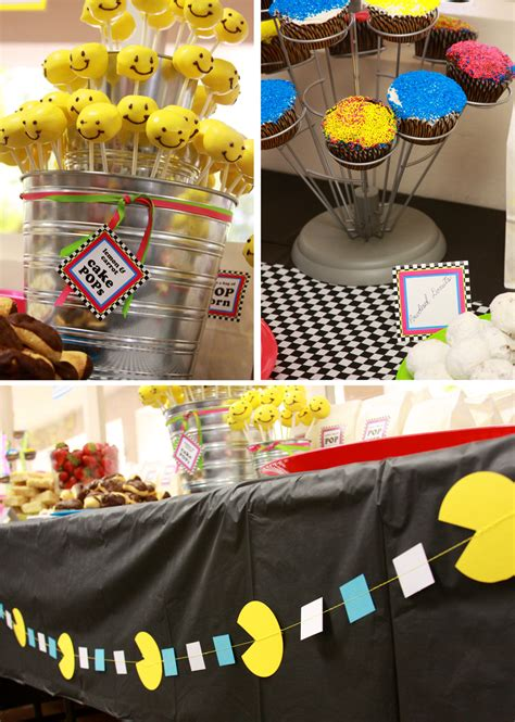 80s theme ideas decorations paper and cake flashback 80s style