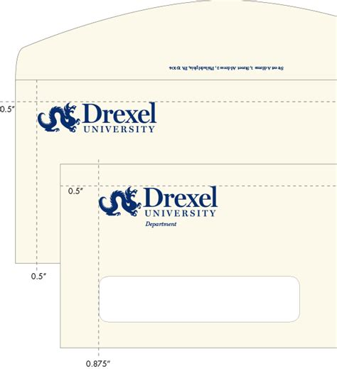 College Letter Envelope Administrative Stationery Identity Drexel