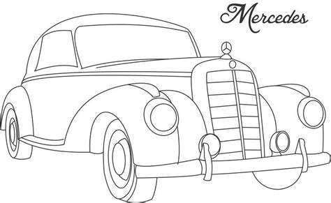 coloring pages of classic cars line drawing of old cars classic muscle car coloring