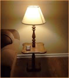 Your home improvements refference floor lamp with attached end table