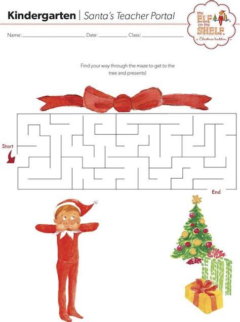 printable elf on the shelf worksheets free christmas printables elf on the shelf maze