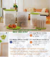 Ezy Carry 1 4l mosaic canister set toko tupperware