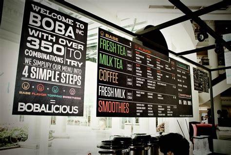 cafe wall menu design boba menuboards menu board pinterest pull it food