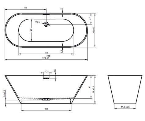 Dimension Dune Baignoire Standard ? Chaios.com
