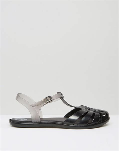 Sandal Flat Wanita Garsel Shoes L 361 lyst zaxy t bar flat sandals in black
