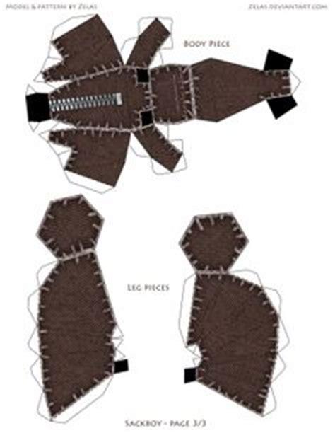 Sackboy Papercraft - sackboy 002 papel