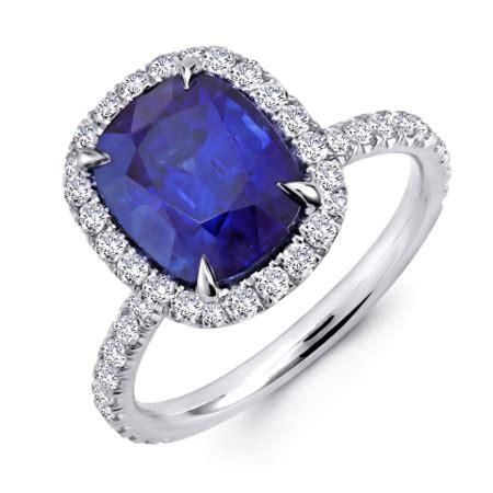 halo ring blue sapphire princess cut halo ring