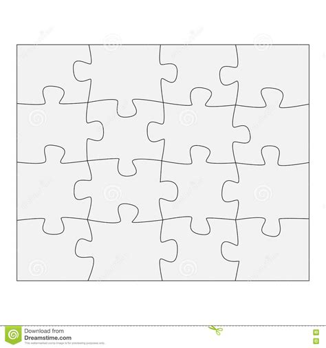 How To Make Paper Puzzle - template paper for thinking puzzles business