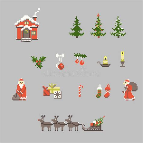 sistema arte sistema de arte pixel para la navidad ilustraci 243 n