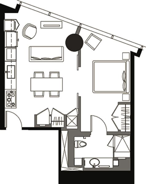 veer towers floor plans one bedroom floor plan v1b 7a 187 veer towers 187 citycenter