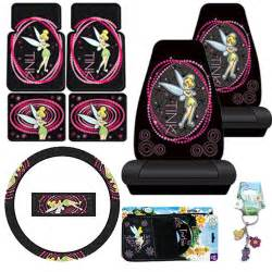 Tinkerbell Seat Covers Cars Walmart Tinkerbell Car Seat Covers Accessories 9pc Set Optic Floor