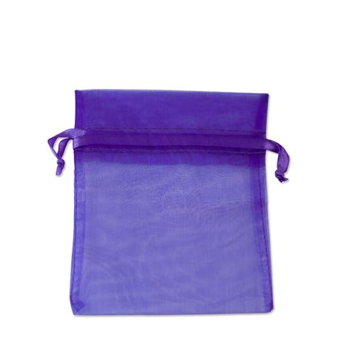 organza pouch medium purple purple favor bags