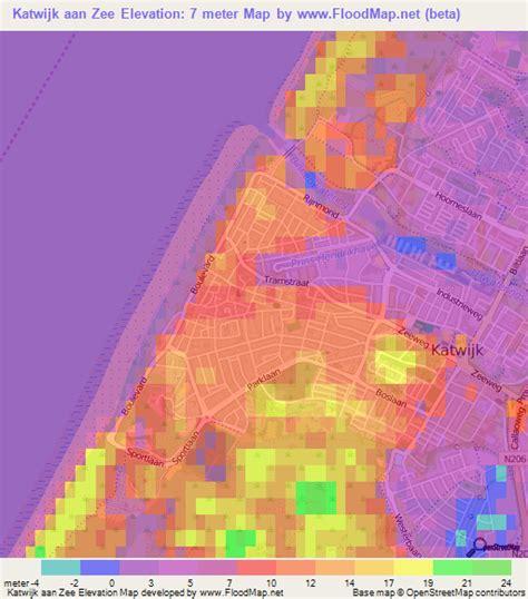 netherlands elevation map elevation of katwijk aan zee netherlands elevation map