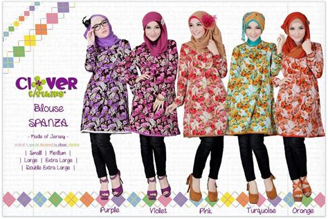 Clothing Busana X S M L koleksi busana muslimah baju muslim blus spanza