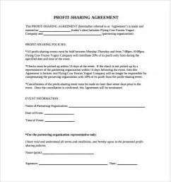 Revenue Sharing Agreement Template sample profit sharing agreement 10 free documents in