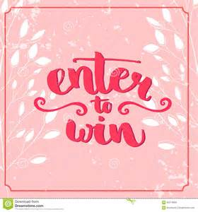 Enter To Win Template by Pics For Gt Enter To Win Template Signs