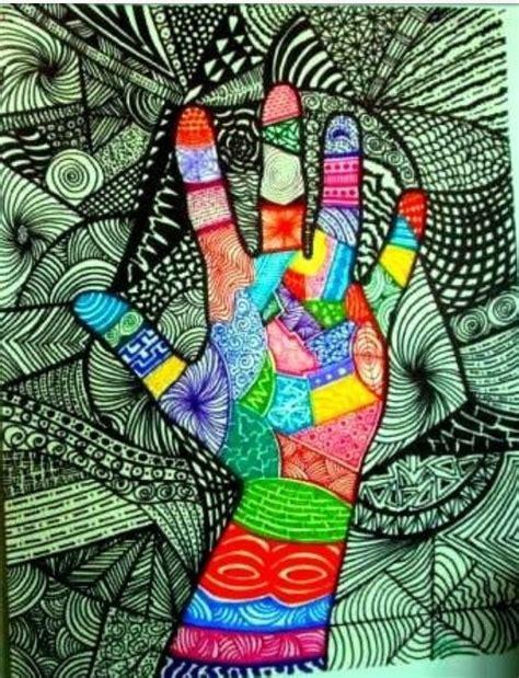 hand pattern art lesson cool art project studio inspirations pinterest