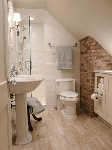 Small Attic Bathroom Ideas by Small Bathrooms Big Design Hgtv