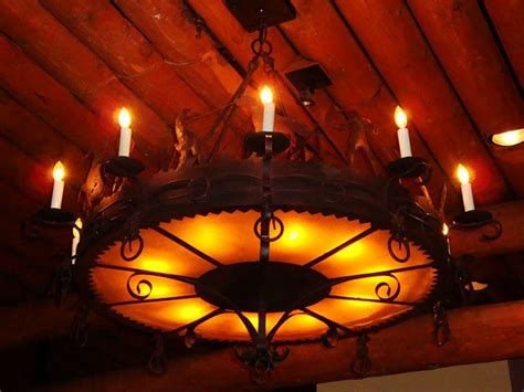 Cowboy Chandelier Whispering Cafe A Meal For The Entire Family