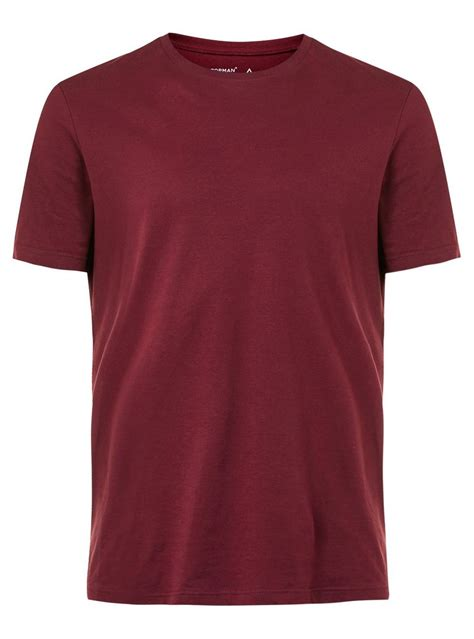 T Shirt A burgundy crew neck t shirt topman