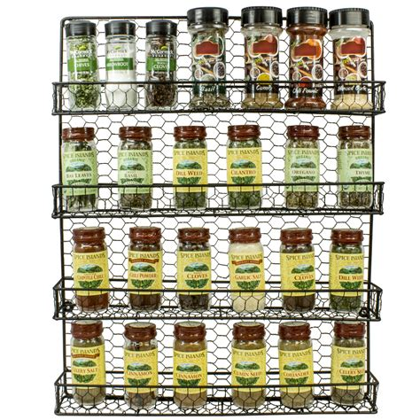 spice rack organizer spice rack and multi purpose organizer 4 tier wall