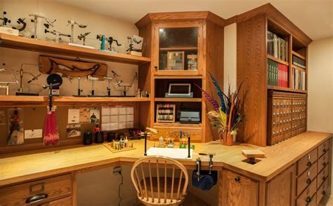 Cottage Bathrooms Ideas Fly Tying Room Traditional Basement Boston By