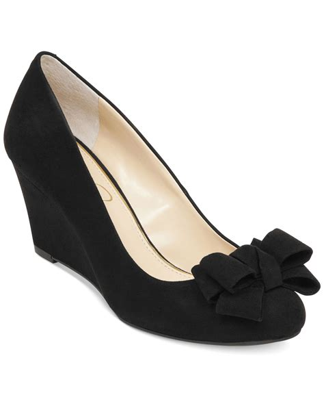 Wedges Black Bow Termurahh black wedges with bow www imgkid the image kid has it