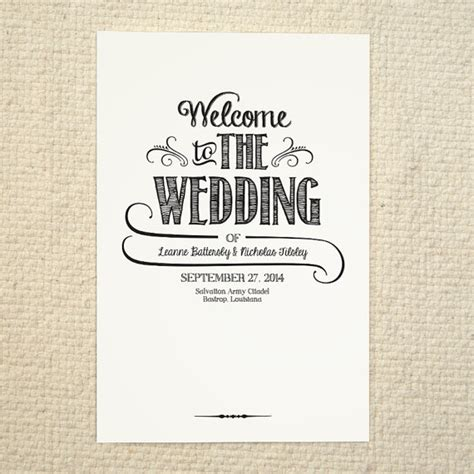 free order of service wedding template diy wedding program order of service handlettered