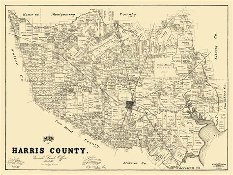 harris county map texas harrisburg railroad and trading company the handbook of texas texas state historical
