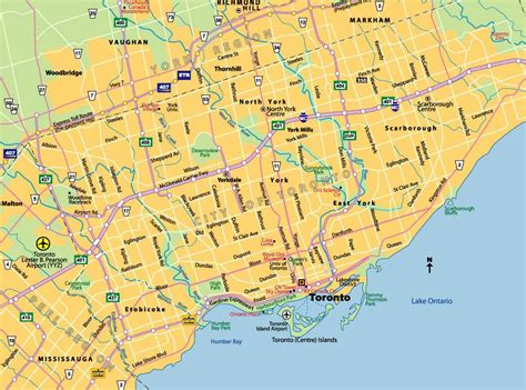 Printable Maps Toronto | large toronto maps for free download and print high