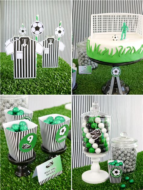 printable birthday table decorations soccer football birthday party printables supplies