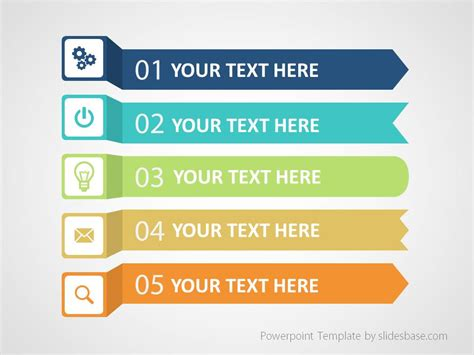 Colorful Infographic List Powerpoint Template Slidesbase Listing Presentation Template Free