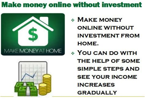 How To Make Good Money Online From Home - 35 ways to make money online make money fast stock trading