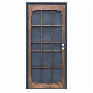 Metal Outdoor Decor Shop Precision Steel Security Door Common 39 In X 82 In