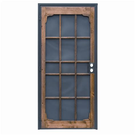 Metal Security Doors by Shop Precision Woodguard Oak Steel Security Door Common