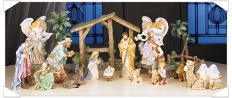 Nativity Set Figurines and Angels from the Seraphim