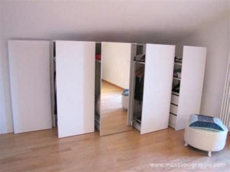 armadio a muro mansarda costruire un armadio a muro in mansarda