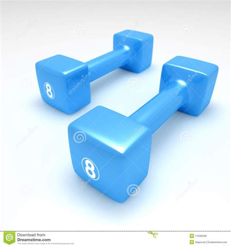 Dumbell Plastic Blue Plastic Dumbbells Royalty Free Stock Images Image