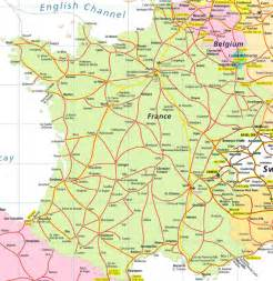 France Train Map by France Rail Map Images