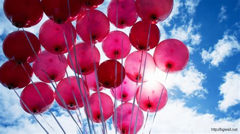 Pink balloons hd wallpaper background wallpaper hd