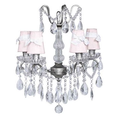 Jubilee Collection Stacked Glass Ball Pink Five Light Mini Pink Mini Chandelier